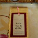 Herzlicher Empfang: Tischsets am Freiwilligen- und Mitarbeiterfest am 27. April in Lichtensteig.
